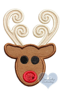 Swirly Reindeer Patch