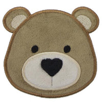 Teddy Bear with Heart Shaped Nose Patch - Sew Lucky Embroidery