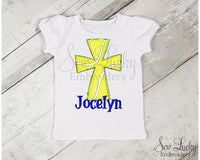 Tennis Ball Cross Personalized Shirt - Sew Lucky Embroidery