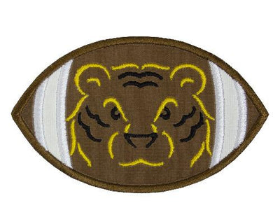 Tiger Head Football Patch