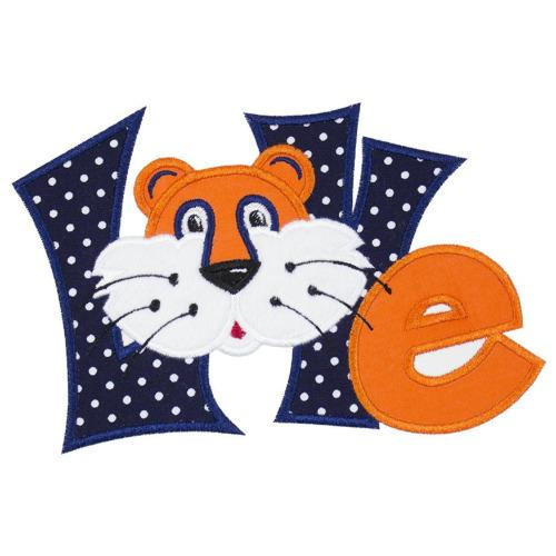 Tiger Love Football Patch - Sew Lucky Embroidery