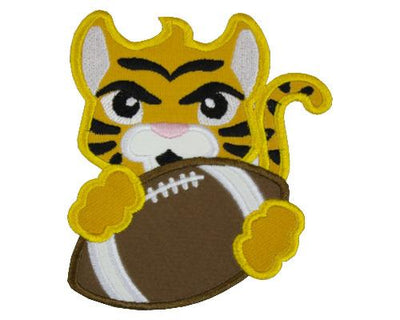 Tiger with Cute Tail Football Patch
