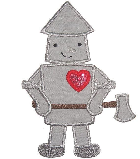 Tin Man Patch - Sew Lucky Embroidery
