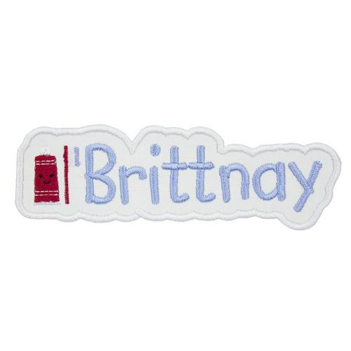 Toothpaste and Toothbrush Name Patch - Sew Lucky Embroidery