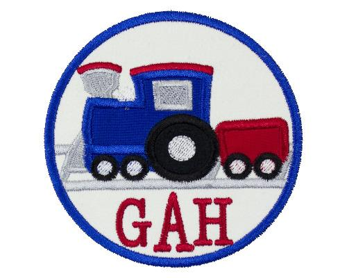 Train Circle Personalized Patch - Sew Lucky Embroidery