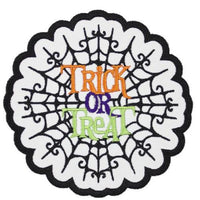 Trick or Treat Halloween Patch - Sew Lucky Embroidery