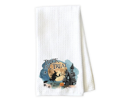 Trick or Treat Waffle Weave Microfiber Kitchen Towel