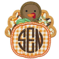 Turkey Monogram Patch - Sew Lucky Embroidery