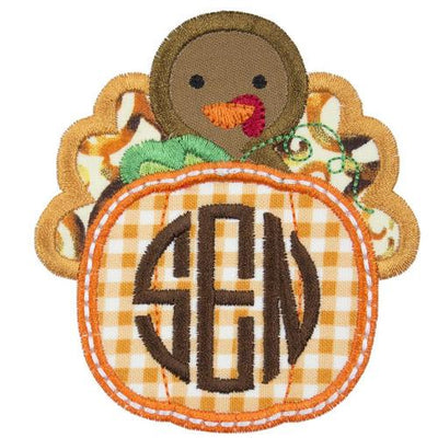 Turkey Monogram Patch