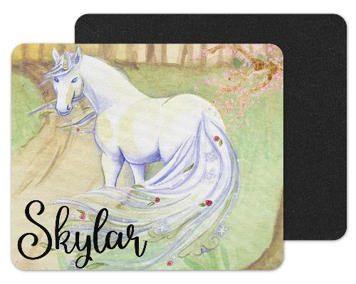 Unicorn Drawing Custom Personalized Mouse Pad - Sew Lucky Embroidery