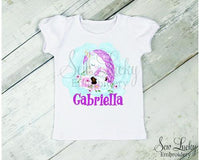 Unicorn Love Girls Personalized Shirt - Sew Lucky Embroidery