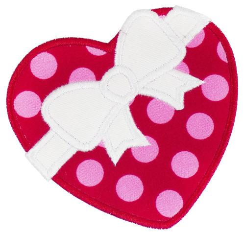 Valentine Heart Patch - Sew Lucky Embroidery