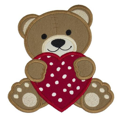 Valentine Teddy Bear Patch