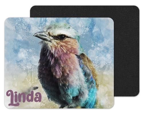 Watercolor Bird Custom Personalized Mouse Pad - Sew Lucky Embroidery