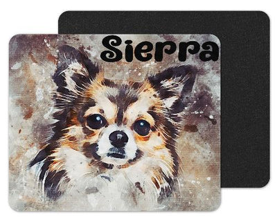 Watercolor Chihuahua Custom Personalized Mouse Pad