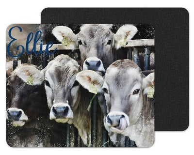 Watercolor Cows Custom Personalized Mouse Pad
