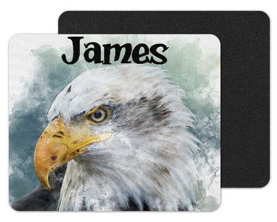 Watercolor Eagle Custom Personalized Mouse Pad