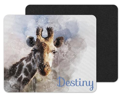 Watercolor Giraffe Custom Personalized Mouse Pad