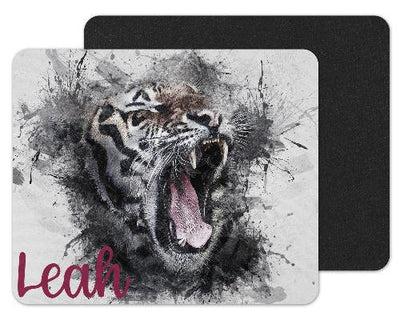 Watercolor Lion Custom Personalized Mouse Pad