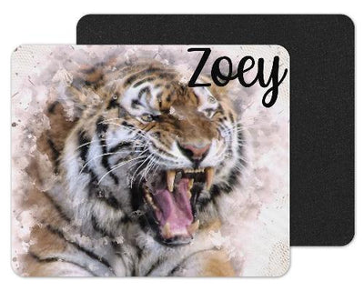 Watercolor Tiger Custom Personalized Mouse Pad