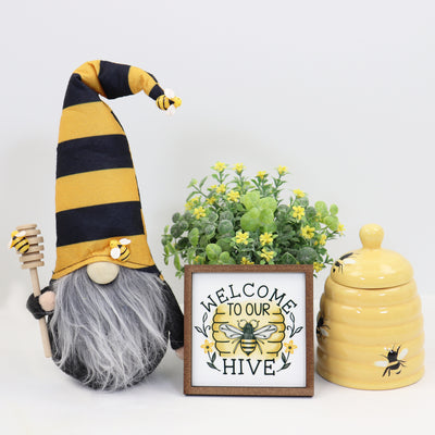Welcome to our Hive Honey Bee Tier Tray Sign