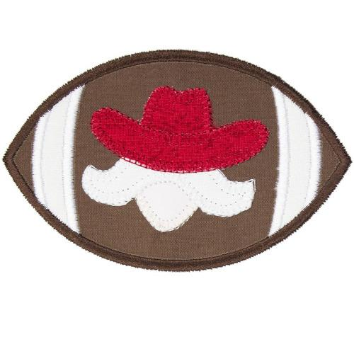 Western Gentleman Football Patch - Sew Lucky Embroidery
