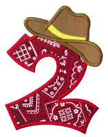 Western Number Patch - Sew Lucky Embroidery