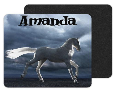 White Horse Custom Personalized Mouse Pad