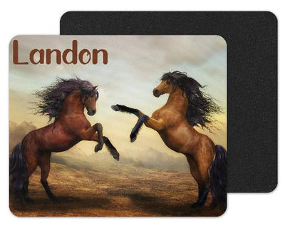Wild Horses Custom Personalized Mouse Pad