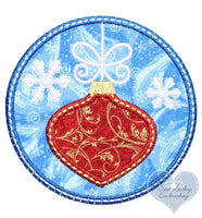 Winter Storm Christmas Snowflake Ornament Patch