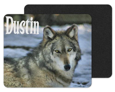 Wolf Head Custom Personalized Mouse Pad