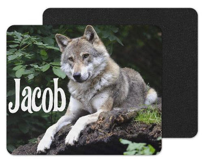 Wolf on Rocks custom Personlized Mouse Pad