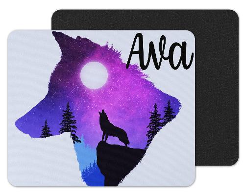 Wolf Shaped Sky Custom Personalized Mouse Pad - Sew Lucky Embroidery