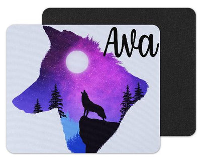 Wolf Shaped Sky Custom Personalized Mouse Pad