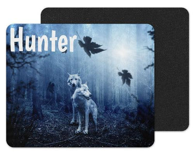 Wolves in Night Forest Custom Personalized Mouse Pad