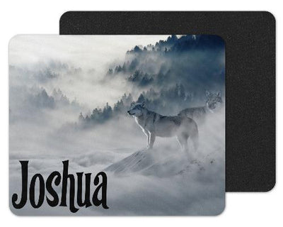 Wolves in Snow Custom Personalized Mouse Pad