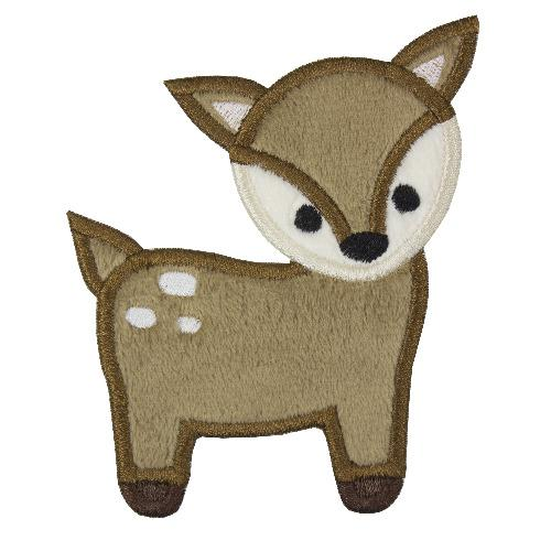 Woodland Deer Applique Embroidery Patch - Sew Lucky Embroidery