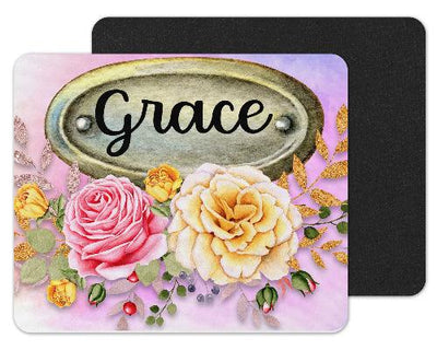 Yellow Roses Custom Personalized Mouse Pad