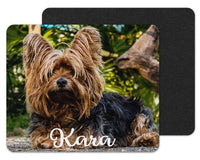 Yorkie Custom Personalized Mouse Pad - Sew Lucky Embroidery