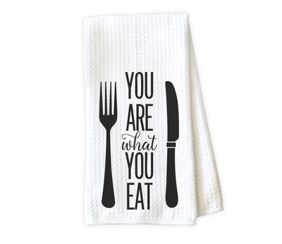 You Are What You Eat Waffle Weave Microfiber Kitchen Towel