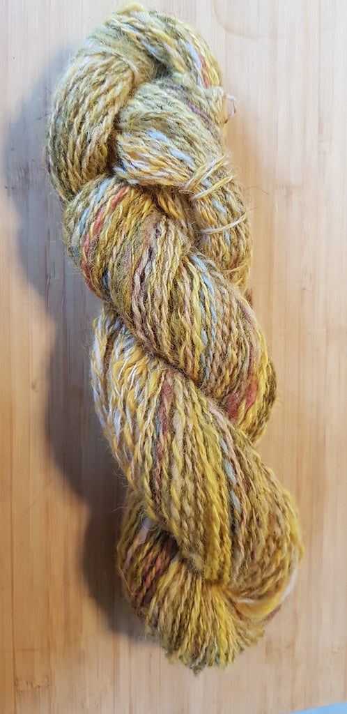 100 % wol Hand Gesponnen Multicolor Yello Brick Road (gouden stapsteen)