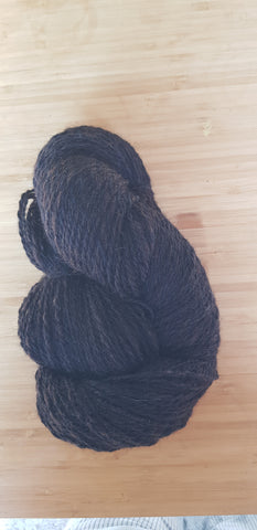 Art Yarn  Handgesponnen Black Hummus