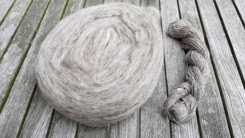 Mohair : broodje spinnen : pencil roving mohair