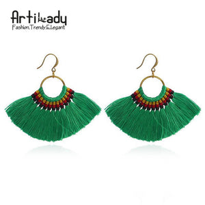 Artilady Boho Earrings Tassel Earrings