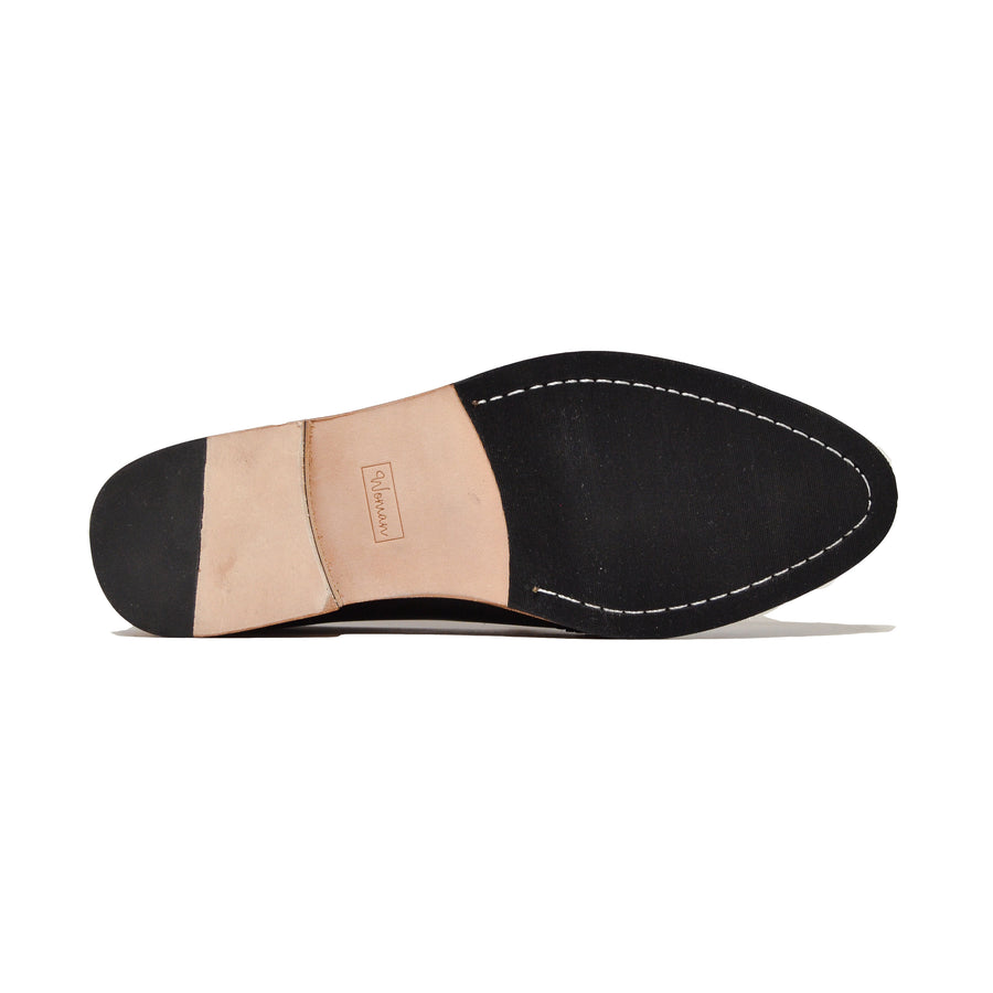 Slipper W&B Negro Blanco