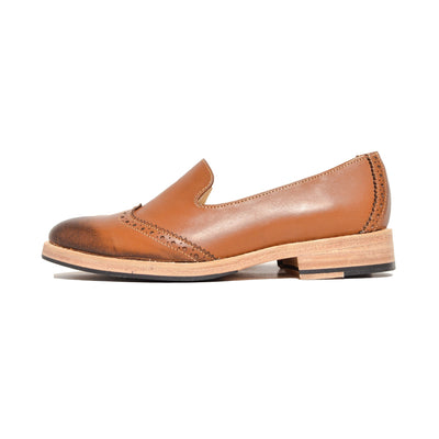 Slipper Wingtip Cognac