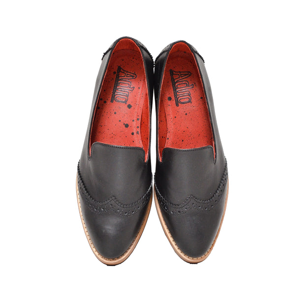 Slipper Wingtip Negro
