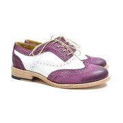 Oxford Wingtip Brogue Marsala & Blanco