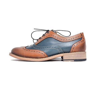 Oxford Wingtip Brogue Cognac & Azul