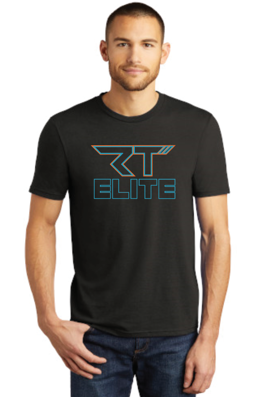 RT Elite District Made Tri-Blend Heathered Black T